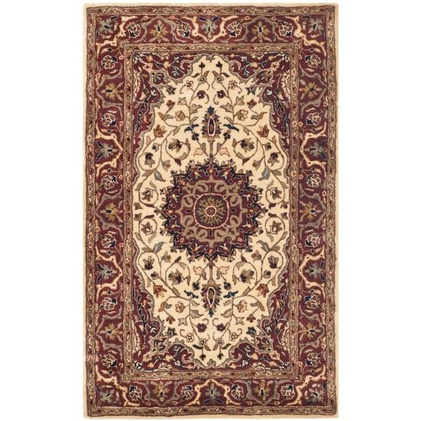 Safavieh Pl537b Persian Legend Wool Hand Tufted Navy Rust: Shop Safavieh Handmade Persian Legend Ivory/ Rust Wool