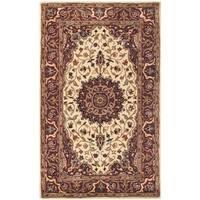 Safavieh Handmade Persian Legend Ivory/ Rust Wool Area Rug - 3' x 5'