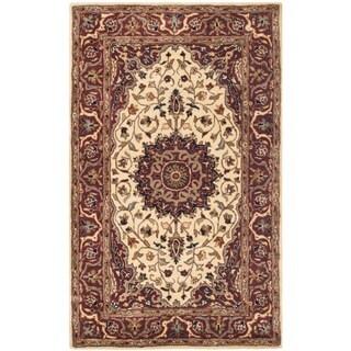 Safavieh Handmade Persian Legend Ivory/ Rust Wool Area Rug (4' x 6')