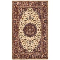 Safavieh Handmade Persian Legend Ivory/ Rust Wool Area Rug - 4' x 6'