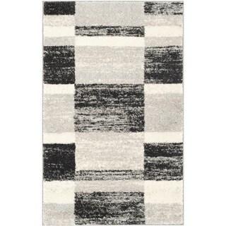 Safavieh Retro Modern Abstract Black/ Light Grey Distressed Rug (2'6 x 4')