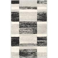 Safavieh Retro Modern Abstract Black/ Light Grey Distressed Rug - 2'6 x 4'