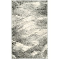 Safavieh Retro Mid-Century Modern Abstract Grey/ Ivory Rug - 2'6 x 4'