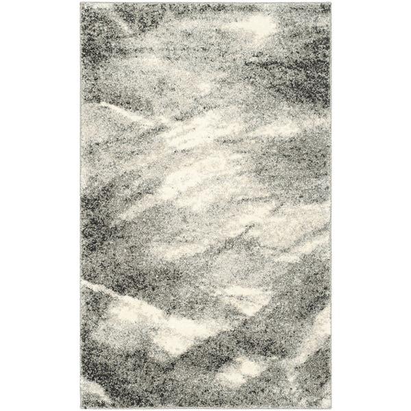Safavieh Retro Mid Century Modern Abstract Grey Ivory Rug