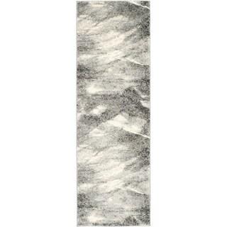 Safavieh Retro Mid-Century Modern Abstract Grey/ Ivory Rug (2'3 x 7')