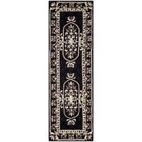 Safavieh Hand-made Naples Black Wool Rug - 2'6 x 8'