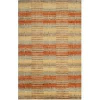 Safavieh Handmade Himalaya Multicolored Plaid Wool Tibetan Rug (3' x 5')
