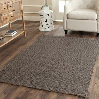 Safavieh Casual Natural Fiber Hand-Woven Doubleweave Blue/ Ivory Jute Rug (8' Square) https://ak1.ostkcdn.com/images/products/8260231/P15584608.jpg?impolicy=medium