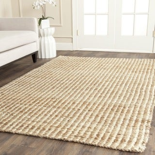 Safavieh Casual Natural Fiber Hand-loomed Sisal Style Natural / Ivory Jute Rug (7' x 7' Square)