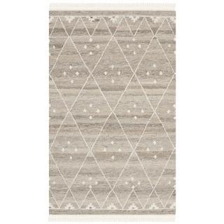 Safavieh Hand-woven Natural Kilim Natural/ Ivory Wool Rug (2'6 x 4')
