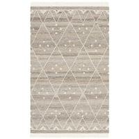 Safavieh Hand-woven Natural Kilim Natural/ Ivory Wool Rug - 3' X 5'