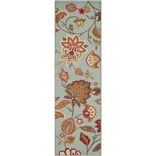 Safavieh Hand-Hooked Four Seasons Blue Polyester Rug (2'3 x 8')