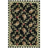 Safavieh Hand-hooked Chelsea Black/ Ivory Wool Rug - 2'9 x 4'9