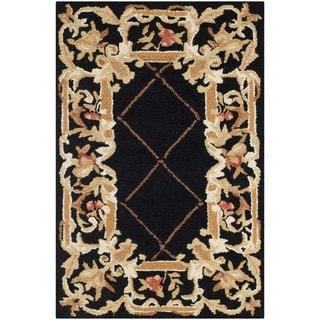 Safavieh Hand-hooked Chelsea Black Wool Rug (1'8 x 2'6)