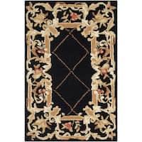 Safavieh Hand-hooked Chelsea Black Wool Rug - 1'8 x 2'6