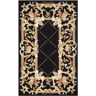 Safavieh Hand-hooked Chelsea Black Wool Rug (2'6 x 4')
