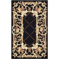 Safavieh Hand-hooked Chelsea Black Wool Rug - 2'6 x 4'