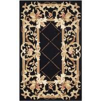 Safavieh Hand-hooked Chelsea Black Wool Rug - 2'9 x 4'9