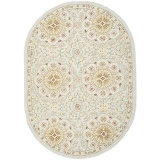 Safavieh Hand-made Chelsea Teal/ Green Wool Rug (7'6 x 9'6)