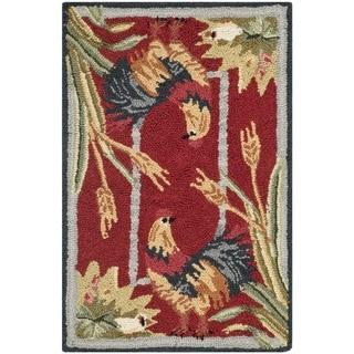 Safavieh Hand-hooked Chelsea Burgundy Wool Rug (1'8 x 2'6)