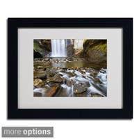 Pierre Leclerc 'Looking Glass Falls' Framed Matted Art