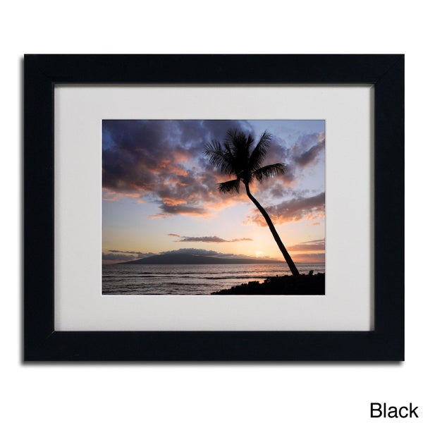Pierre Leclerc 'Palm Tree Maui' Framed Matted Art