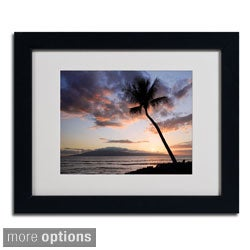 Pierre Leclerc 'Palm Tree Maui' Framed Matted Art