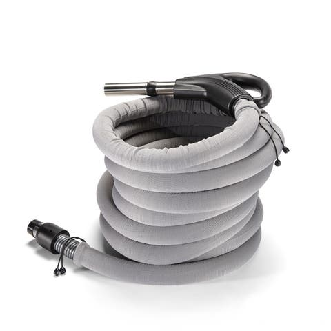 GV Garage Central Vacuum Tool Kit with 30-foot Hose - Silver