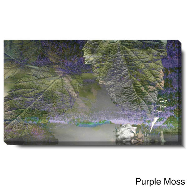 Studio Works Modern 'Powers of Augery - Purple Moss and Purple Mist' Gallery Wrapped Canvas