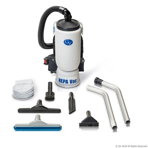 GV 6-quart Sealed HEPA Backpack Vacuum with Professional Tool Kit