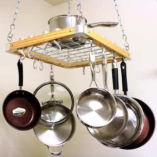 Cooks Standard Ceiling Mount Wooden Pot Rack|https://ak1.ostkcdn.com/images/products/8260427/Cooks-Standard-Ceiling-Mount-Wooden-Pot-Rack-P15584788.jpg?impolicy=medium