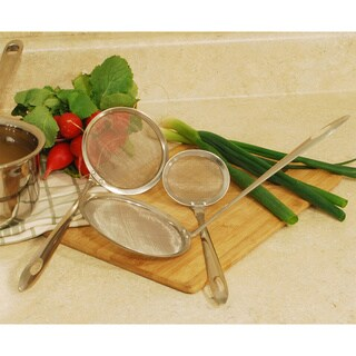 Stainless Steel Mesh Strainers (Set of 3)