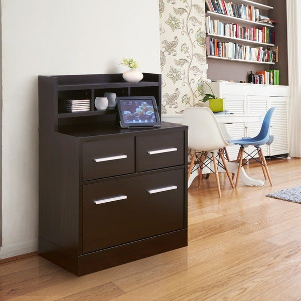 furniture of america hotchner cappuccino file cabinet work station
