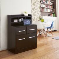 Furniture of America Hotchner Cappuccino Multi-storage File Cabinet Work Station