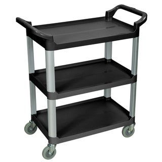 Black 3-shelf Serving Cart SC12-B