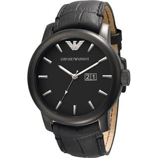 Emporio Armani Men's AR0496 Classic Stainless Steel Black Dial Watch|https://ak1.ostkcdn.com/images/products/8260668/Armani-Mens-AR0496-Classic-Stainless-Steel-Black-Dial-Watch-P15584935.jpg?impolicy=medium