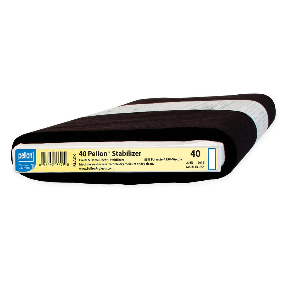 Pellon 40 Sew-In Midweight Stabilizer Black (20-inch x 10...