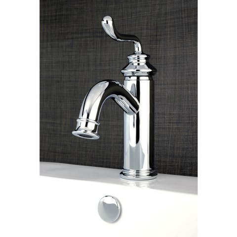 Single-handle Chrome Single-Hole Bathroom Faucet