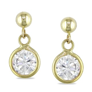 Miadora 10k Yellow Gold Cubic Zirconia Dangle Earrings