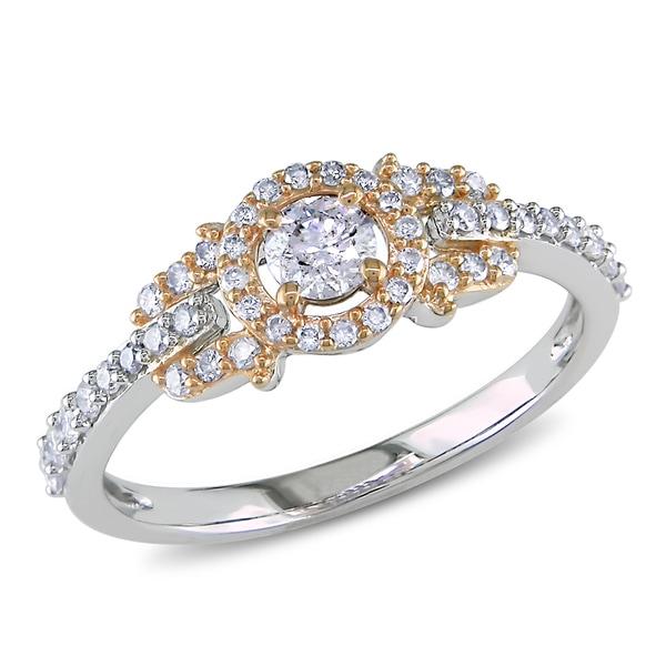 Miadora 14k Gold 1/2ct TDW Rose Accent Diamond Ring (G-H, I1-I2)