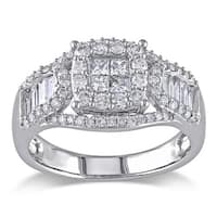 Miadora Signature Collection 14k White Gold 1 1/10ct TDW Certified Diamond Ring