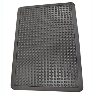 Rubber-Cal Bubble-Top Anti-Fatigue Matting Black Rubber Mats
