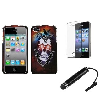 INSTEN Clear Screen Protector/ Stylus/ Phone Case Cover for Apple iPhone 4/ 4S
