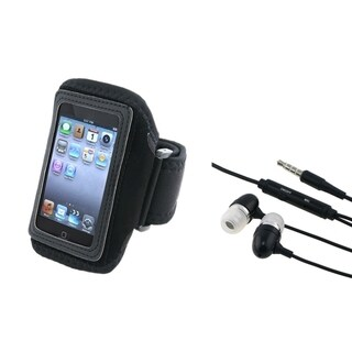 INSTEN Armband iPod Case Cover/ Stereo Headset for Apple iPod Touch 4