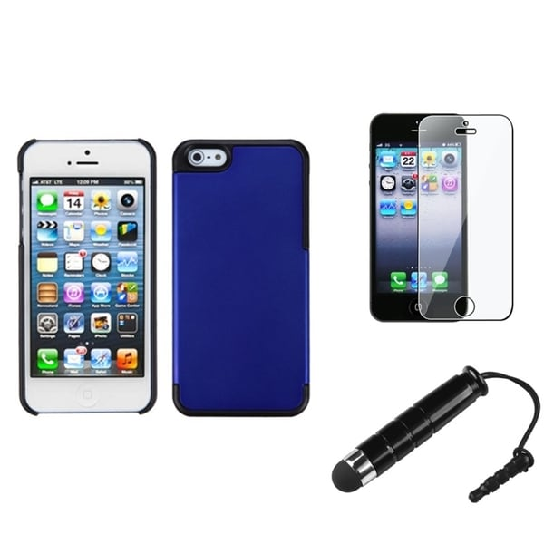 INSTEN Clear Screen Protector/ Stylus/ MyDual Back Phone Case for Apple iPhone 5/ 5C/ 5S/ SE