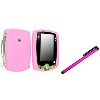 INSTEN Pink Soft Silicone Phone Case Cover/ Pink Stylus for Leapfrog LeapPad 2