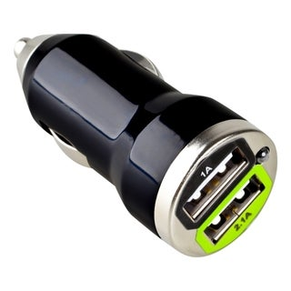 INSTEN Universal Dual USB Mini Car Charger Adapter for Apple iPhone 4S/5/ 5S/ 6