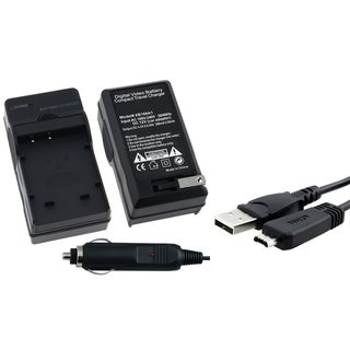 INSTEN Charging Cable/ Battery Charger for Sony Cyber-Shot DSC HX9V