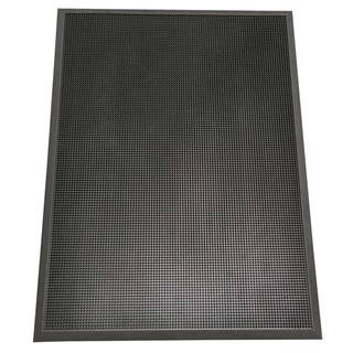 "Rubber-Cal ""Door Scraper"" Commercial Entrance Mat - 5/8-inch thick x 3ft x 6ft Black Rubber Doormats"