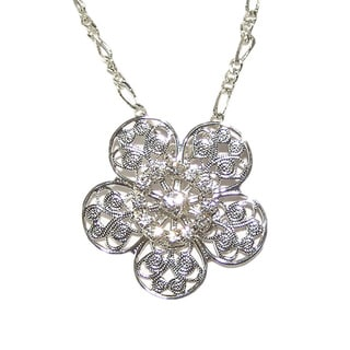 Detti Originals Filigree Clear Crystal Necklace